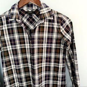 J Crew 00 Plaid Button Down Shirt